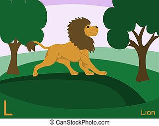 oroszlán, állat, abc, l