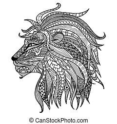 oroszlán, elpirul beír