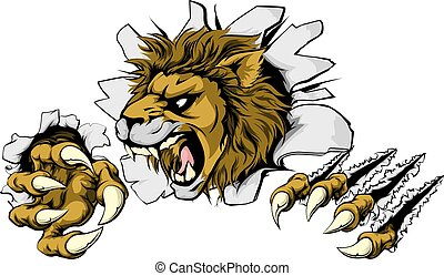 oroszlán, hatalmas, ki