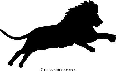 oroszlán, ugrás