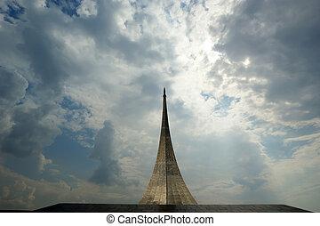 oroszország, emlékmű, subjugators, space., moszkva