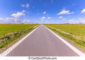 ország, polder, hollandia, út
