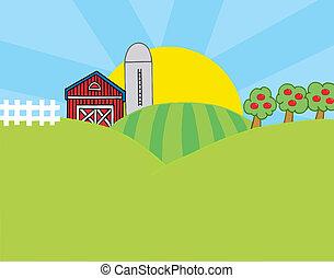ország, színhely, tanya