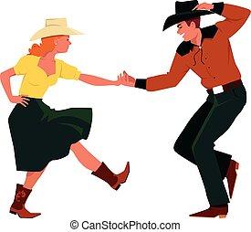ország, western, tánc