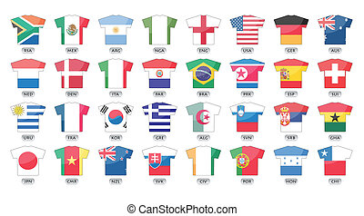 országok, zászlók, ikonok