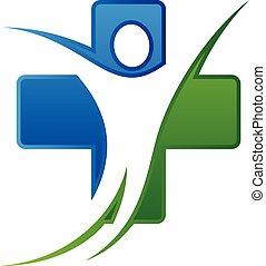 orvos, egészséges, vektor, tervezés, klinika, törődik, család health, fogalom