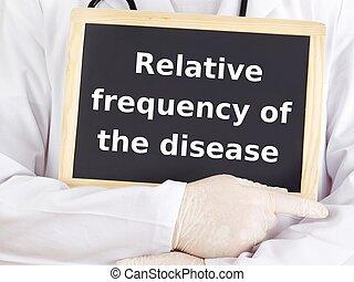 orvos, information:, betegség, látszik, viszonylagos, frekvencia