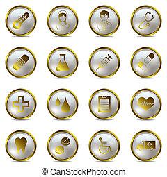 orvosi, állhatatos, arany, ikonok