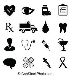 orvosi, állhatatos, egészség, ikon
