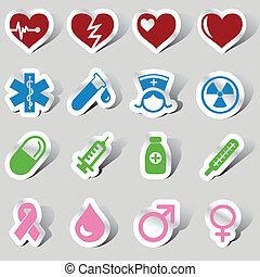 orvosi, állhatatos, ikon