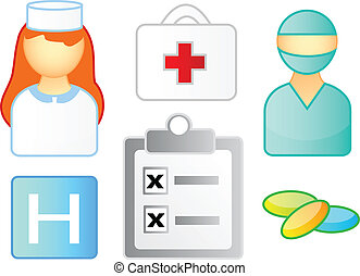 orvosi, állhatatos, ikonok