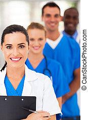 orvosi, closeup, furfangos, befog