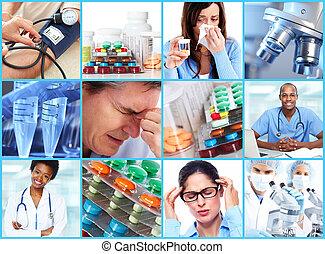 orvosi, collage.