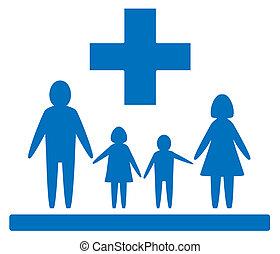 orvosi, család, aláír