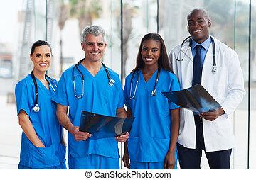 orvosi, csoport, hivatal, orvosok
