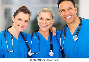 orvosi, csoport, kórház, befog