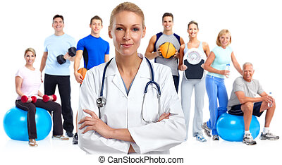 orvosi doktor, fiatal, woman.