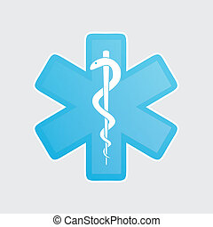 orvosi, fehér, ikonok