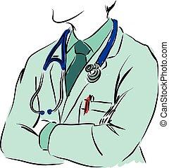orvosi fogalom, ábra, orvos