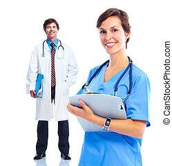 orvosi, group., orvosok
