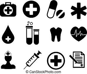 orvosi, gyűjtés, ikonok