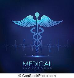orvosi, háttér, healthcare