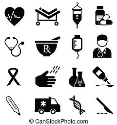 orvosi health, ikonok
