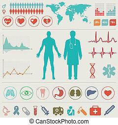orvosi, infographic, állhatatos