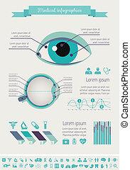 orvosi, infographic, template.
