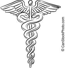orvosi jelkép, ábra