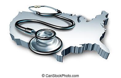 orvosi jelkép, egészség, amerikai