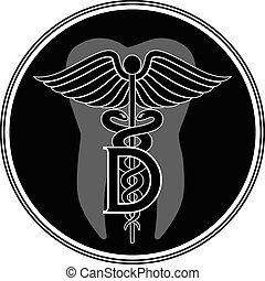 orvosi jelkép, grafikus, fogász, styl