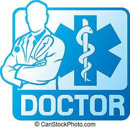 orvosi jelkép, orvos