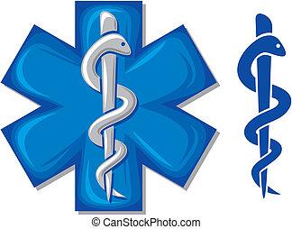 orvosi jelkép, pusztulásnak indult, kígyó