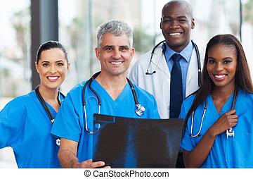 orvosi, munkás, befog