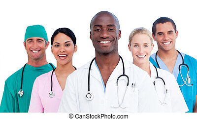 orvosi, pozitív, sportcsapat portré