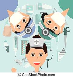 orvosi szellemi foglalkozás, emberek