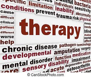 orvosi, terápia, háttér, kreatív