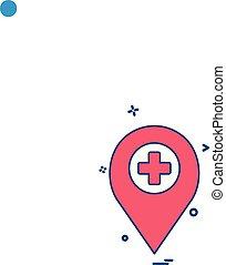 orvosi, vektor, tervezés, ikon