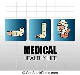 orvosi, vektor, tervezés, illustration.
