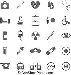orvosi, white háttér, ikonok