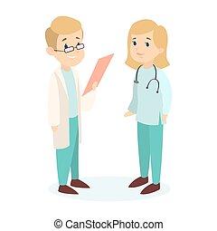 orvosok, párosít., elszigetelt