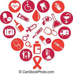 orvosság, alapismeretek, háttér, ikonok
