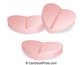 orvosság, szív alakzat