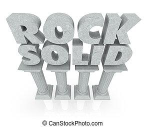 oszlop, megkövez, szilárd, megbízható, állékonyság, szavak, kő, márvány, oszlop