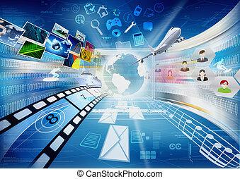 osztozás, multimédia, internet