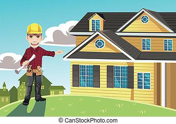 otthon, építő