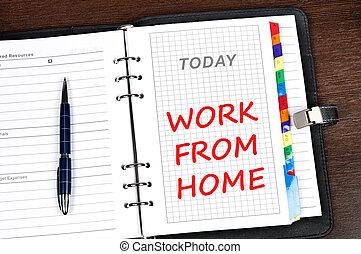 otthon, üzenet, munka