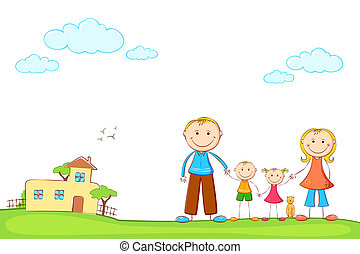 otthon, család, kellemes