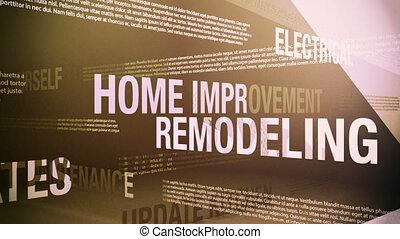 otthon, kikötések, kapcsolódó, javítás